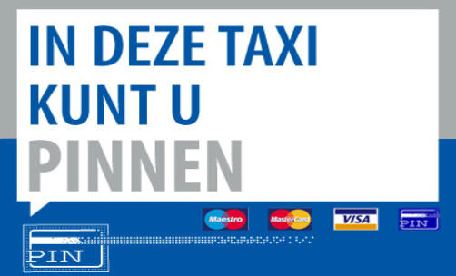 Pin betalen Taxi Delft pinnen